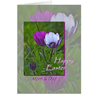 Mom and dad easter gifts t shirts art posters other gift easter greeting card for mom and dad flowers card negle Image collections