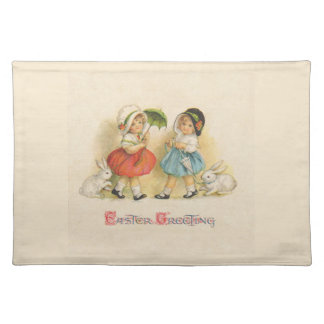 Easter Greeting Vintage Placemat
