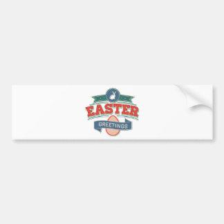 Easter Greetings Bumper Sticker
