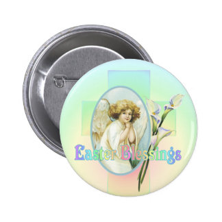 EASTER GREETINGS by SHARON SHARPE 6 Cm Round Badge
