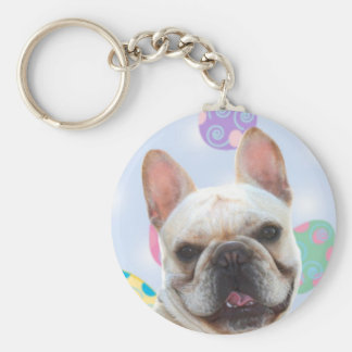 Easter Greetings French Bulldog Keychain