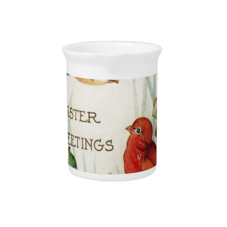 Easter greetings pitcher