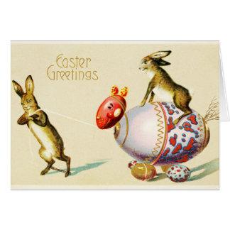 Easter Greetings Vintage Greeting Card