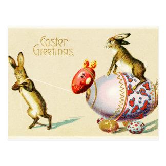 Easter Greetings Vintage Postcard