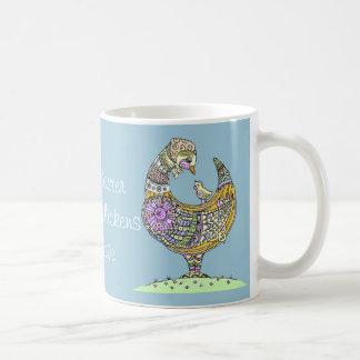 Easter hen and chick mug. coffee mug