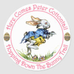 Easter - Here Comes Peter Cottontail Round Sticker