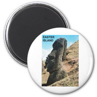 Easter Island 6 Cm Round Magnet