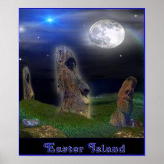 Easter Island art poster