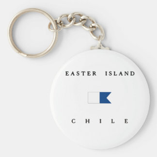 Easter Island Chile Alpha Dive Flag Keychains