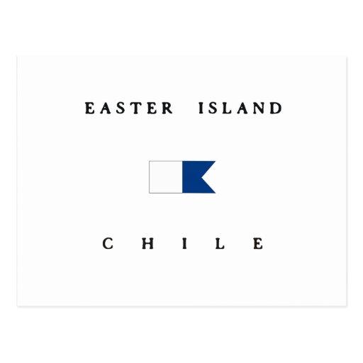 Easter Island Chile Alpha Dive Flag Postcard