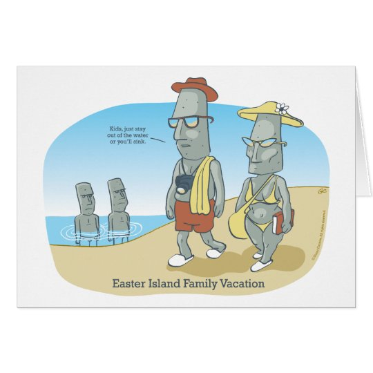 Easter Island Family Vacation Card