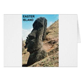 Easter Island Greeting Card
