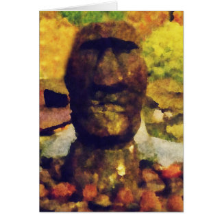 Easter Island Head Statue Greeting Card