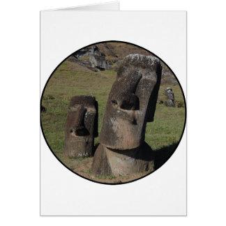 Easter Island Heads Greeting Card
