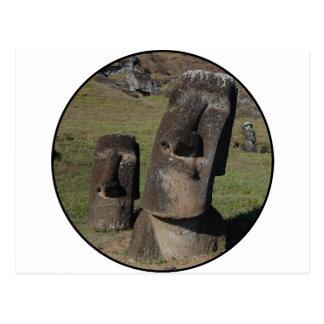 Easter Island Heads Postcard