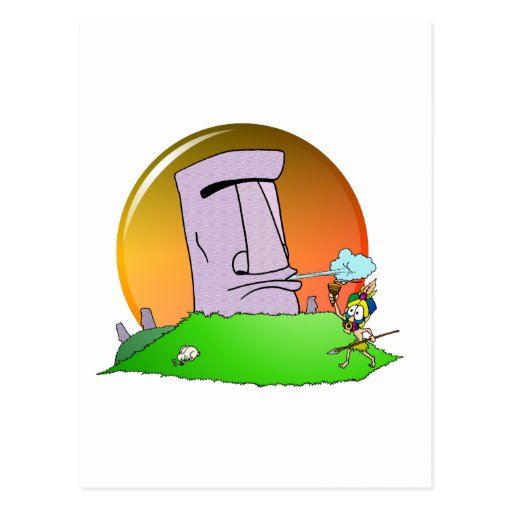 Easter Island Humor Post Card