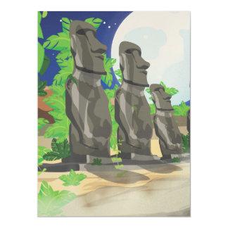 Easter Island 17 Cm X 22 Cm Invitation Card