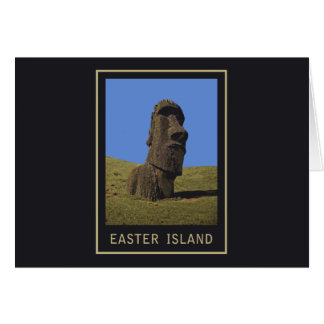Easter Island Moai Card