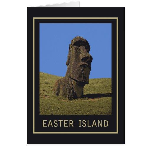Easter Island Moai Card