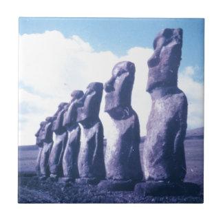 Easter Island Moai Heads Tile