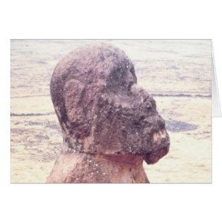 Easter Island Moai Sculpture Greeting Card