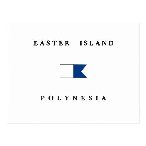 Easter Island Polynesia Alpha Dive Flag Post Card