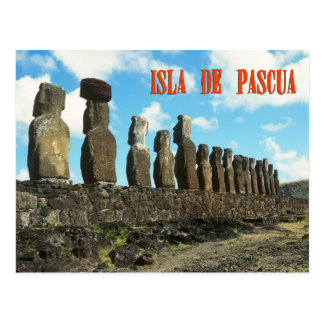 Easter Island (Rapa Nui) Chile Post Card