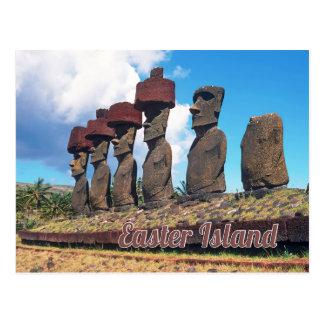 Easter island (Rapa Nui) Chile Postcard
