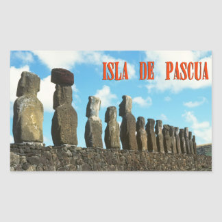 Easter island (Rapa Nui) Chile Rectangular Sticker