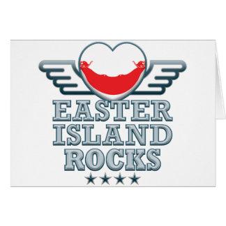 Easter Island Rocks v2 Greeting Card