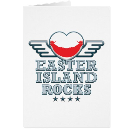 Easter Island Rocks v2 Greeting Cards