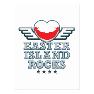 Easter Island Rocks v2 Postcard
