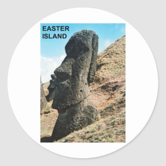 Easter Island Round Sticker