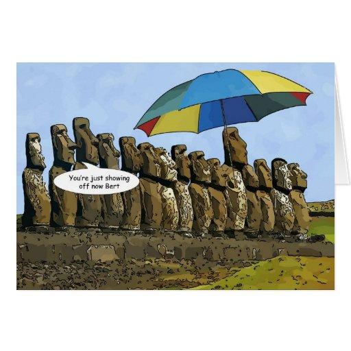 Easter Island statues Card