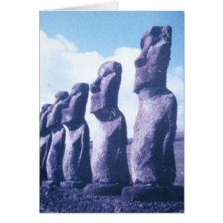 Easter Island Statues Card