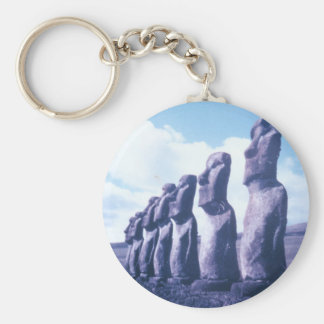Easter Island Statues Key Ring