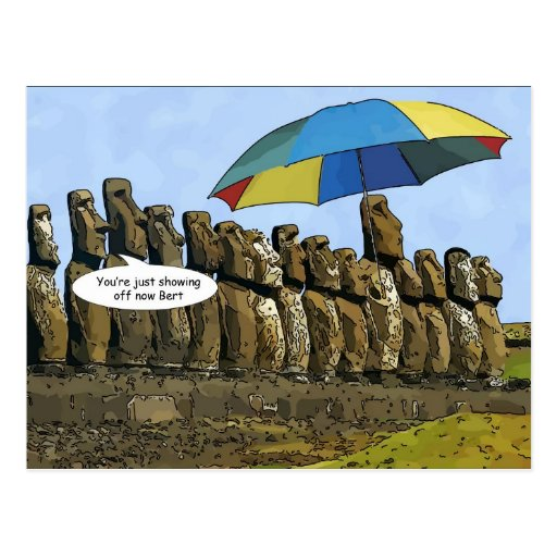 Easter Island statues Post Cards