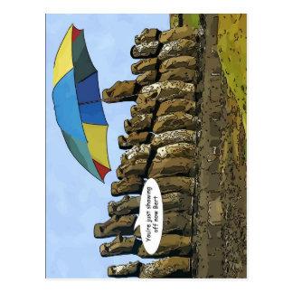 Easter Island statues Postcard