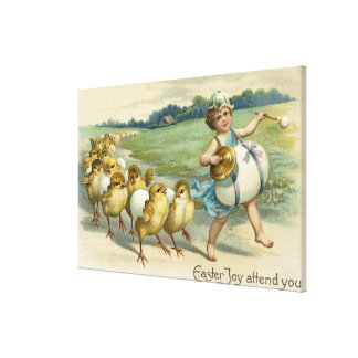 Easter Joy Attend YouChicks in a Parade Canvas Print
