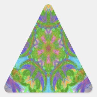 Easter kaleidoscope design image triangle sticker