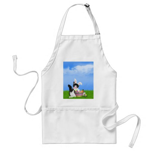Easter Kitten w/Background (Add your Text) Apron