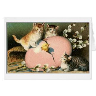 Easter Kittens Victorian Kittens Easter Card
