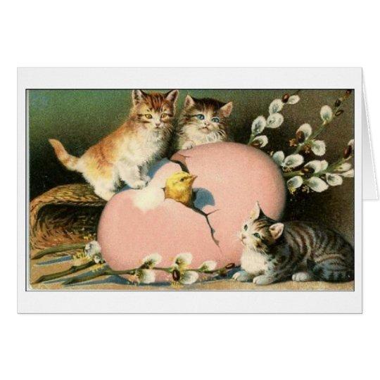Easter Kittens!  Victorian Kittens Easter Card