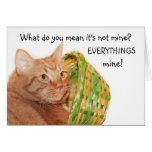 Easter kitty greeting card