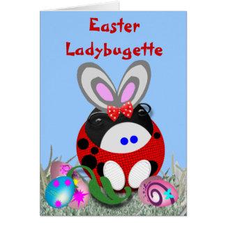 Easter Ladybugette Greeting Card