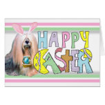 Easter Lhasa Apso Note Card