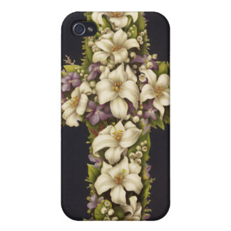 Easter Lily Cross iPhone 4 Cover