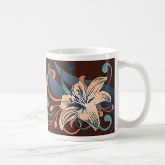 Easter Lily In Blue Basic White Mug