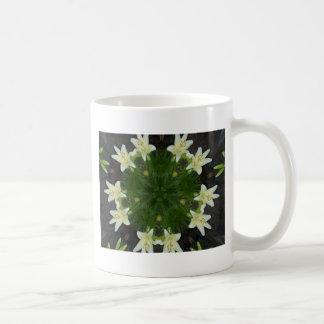 Easter Lily Kaleidoscope Basic White Mug