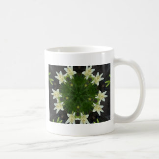 Easter Lily Kaleidoscope Coffee Mug